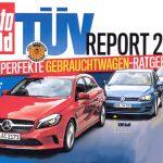 Рейтинг надёжности б/у авто TUV Report 2019